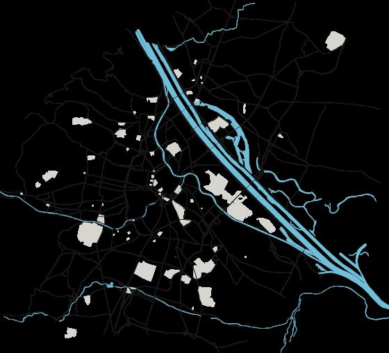 Karte Wien